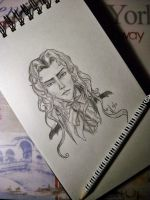 30 Days of Sketches-Day 3,Alucard by MariaHasAPaintBrush