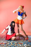 Sailor Mars and Venus 1 by nearlyfarley