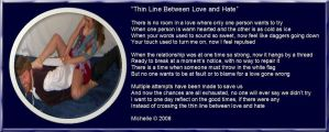 Thin Line Between Love + Hate by VisualPoetress