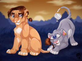 Jim and Dolphy lions by DolphyDolphiana