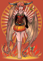 Fire Demoness by ZoeStead