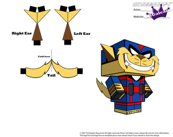 Cubeecraft T-Bone From the TV Series Swat Kats PT2 by SKGaleana