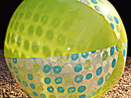 Big Green Beach Ball by carbyville