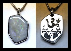 White Opal Pendant by manwithashadow