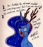 Luna as Rudolph by newyorkx3
