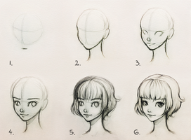 Drawing head - tutorial by ohayorinka
