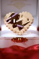 Heart Cookie Ring - Chocolate by prettypop
