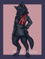 Wolf's Rain - Anthro Blue by arania