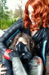 Black Widow and Bucky Cosplay by MikaPoison
