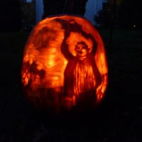 Texas Chainsaw Pumpkin by sexytime