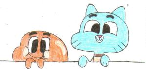 Gumball & Darwin Sketch by CartoonDude95