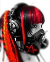 Cyber Goth Red 3 by Kimidori-apple