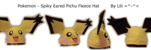 Spiky Eared Pichu Hat by LiliNeko