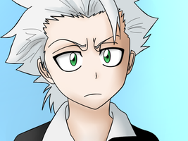 Toshiro- Colored lineart by Neptune-san