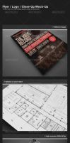 Flyer / Logo / Close-Up Mock-Up by PremiumPSDFiles