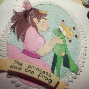 the Princess and the Frog by JayaHime
