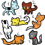 Chibi Kitty Adoptables OPEN by The-Artistic-Devil