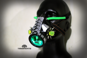 The Dissolver cyberpunk Plasma respirator by TwoHornsUnited