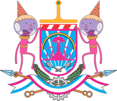 Coat of Arms of the Candy Kingdom by ThaDrummer