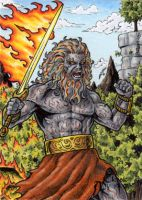 Surtr Sketch Card - Tony Perna by Pernastudios