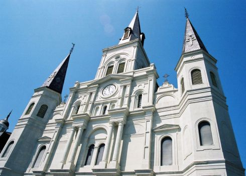 St Louis Cathedral New Orleans by frchblndy-stock