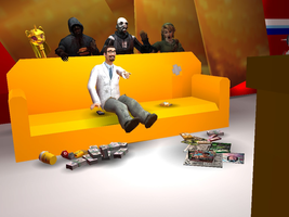 [GMOD] What's going on Behind Freeman's Couch? by SuperMaster10