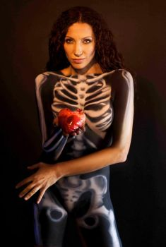 skeleton with Heart 2 by AngieStock