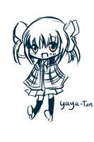 yaya-tan chibi sketch by 666phantomoftheopera