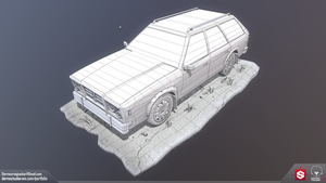 Station Wagon - Wireframe by DTHerculean