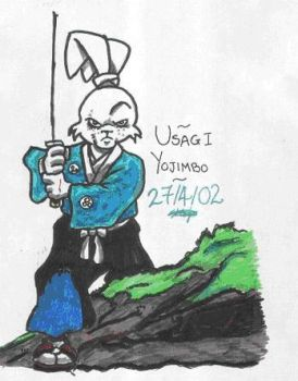Usagi Yojimbo Ronin by youngandhopeless