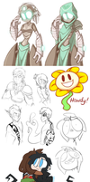Sketch Dump August-October 2015 by KelCasual
