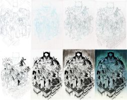 Batman's Rogue Gallery Process by Walter-Ostlie