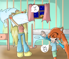 At- Pillow fight by xXLily-n-CookiesXx