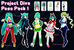 Project Diva Pose Pack 1 by Xoriu