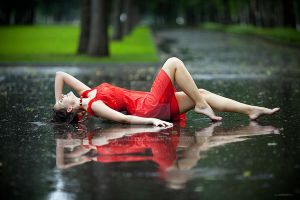 Summer rain by Dusaleev