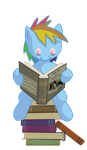 Bookworm Dashie ~ Filly by LiraCrown