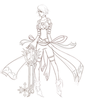Commission/WIP: Aqua + Oathkeeper by chinensisXIII