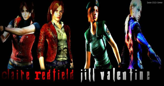 Claire Redfield and Jill Valentine  by Leon-Jill-lover
