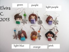 Polymer clay Earrings (available on etsy) by elvira-creations