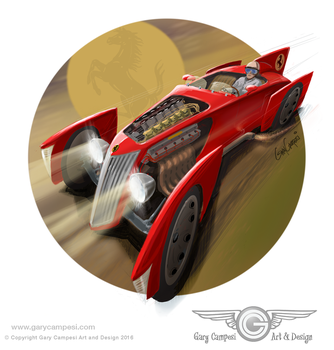 Streamlined Mille Miglia Roadster by GaryCampesi