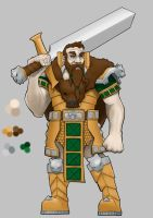 WIP Dwarf Paladin by 365degrees