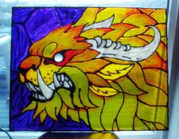 Stained Glass Charr by goosezilla