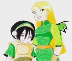 Cornelia and Toph by TGrrr89