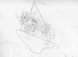LET'S SAIL AWAY ON OUR FRIENDSHIP by Scribbabbles