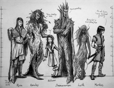 Character Hight Chart by nolwen