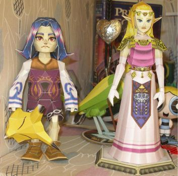 Adult Zelda and Kafey by enrique3