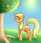 Buck you I can't harvest all these apples! by Pinkie321Pie