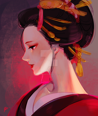 Oiran by EvaBeeSmith