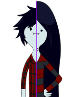 Marshall Lee vs. Marceline - Adventure Time by Qhyperdunk24