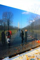 Vietnam Memorial Reflection by Sp3nc3r-H1nds